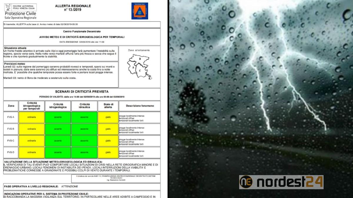 Meteo: le previsioni per domani, mercoledì 4 settembre