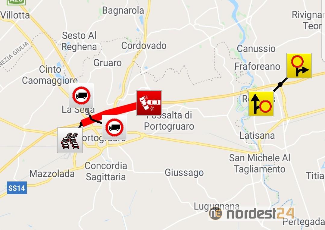 Grave incidente in A4 tra Latisana e Portogruaro: chiusa l'autostrada - Nordest24.it
