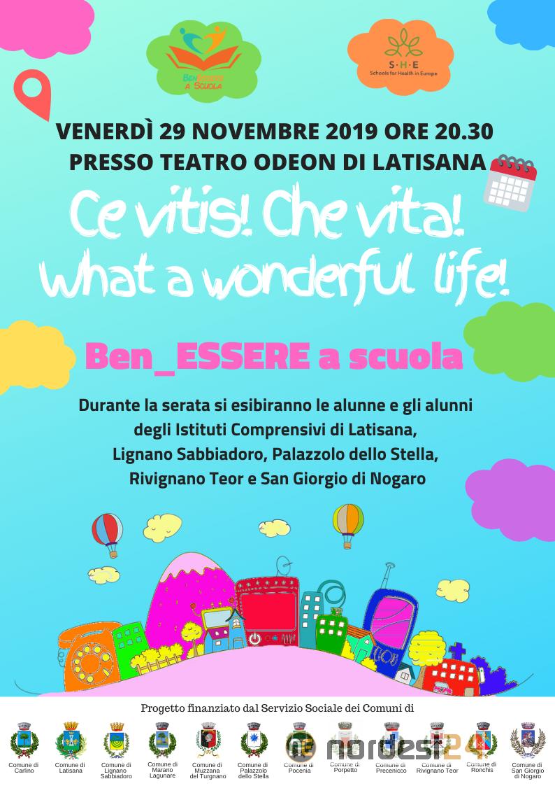 A Latisana La Scuola Promuove Benessere E Salute Teatro Odeon 29 Novembre Nordest24