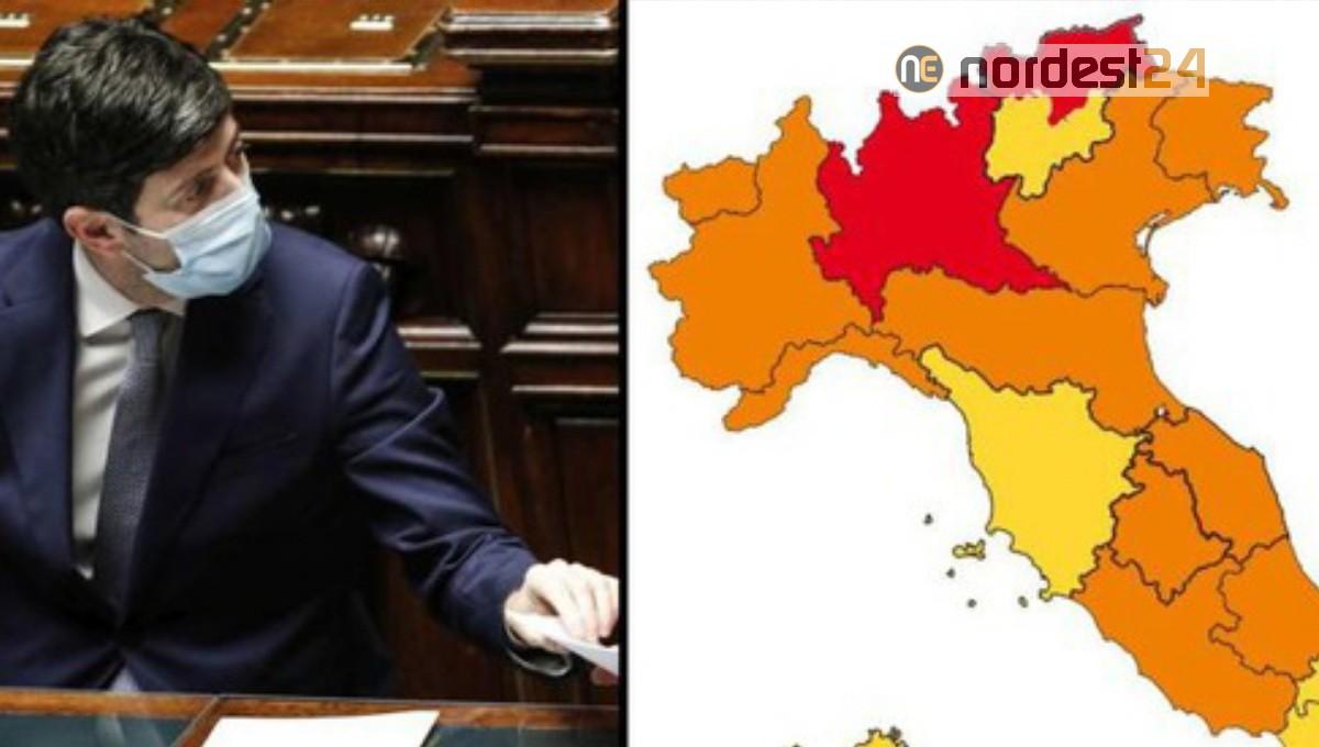 L'Abruzzo potrebbe tornare in zona gialla da domenica 31 gennaio