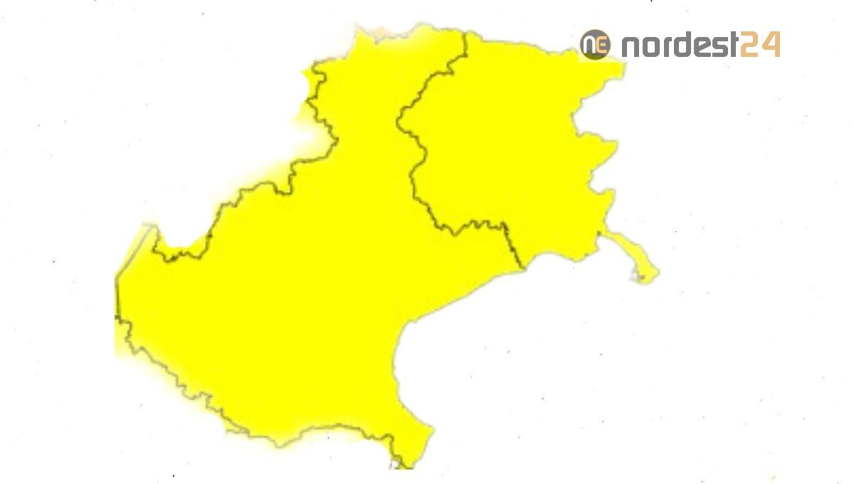 Cartina Del Veneto E Friuli.Ufficiale Veneto E Friuli Venezia Giulia Restano In Zona Gialla Nordest24