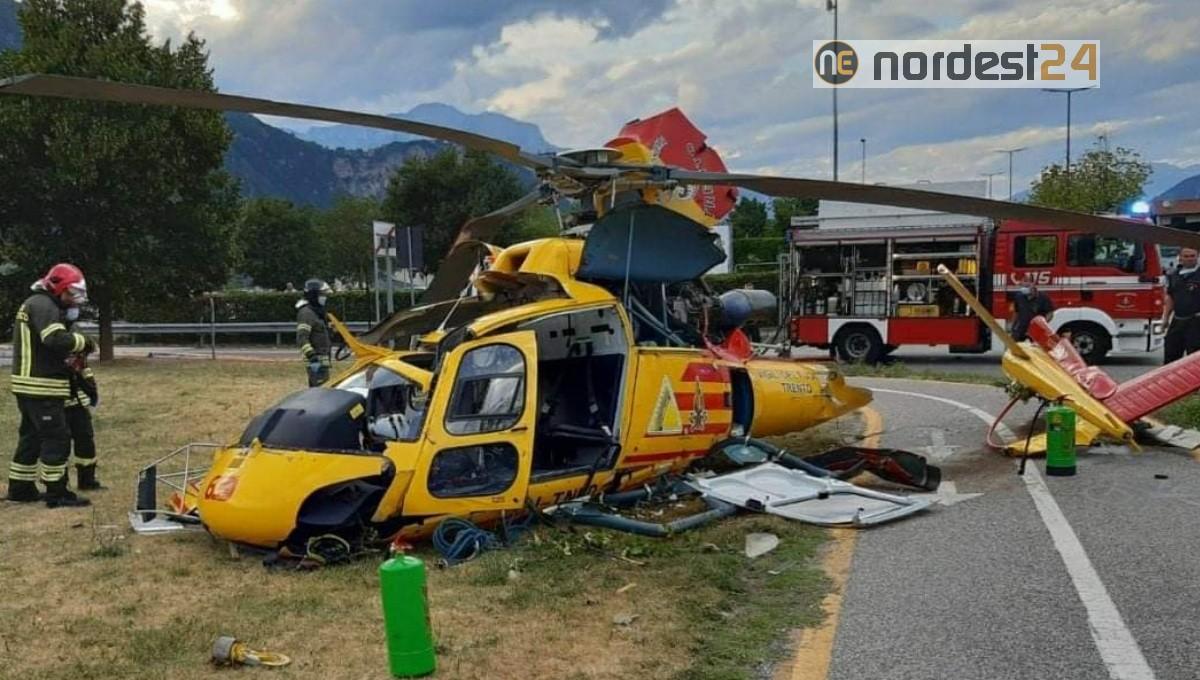 Cade un elicottero a Trento Sud: tragedia sfiorata – Nordest24